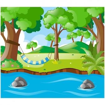 Fondo de paisaje natural