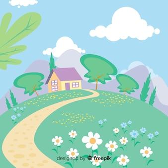 Fondo de paisaje primaveral