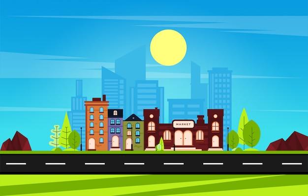Fondo de paisaje urbano