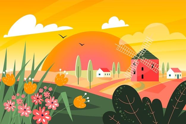 Fondo de paisaje de verano para zoom