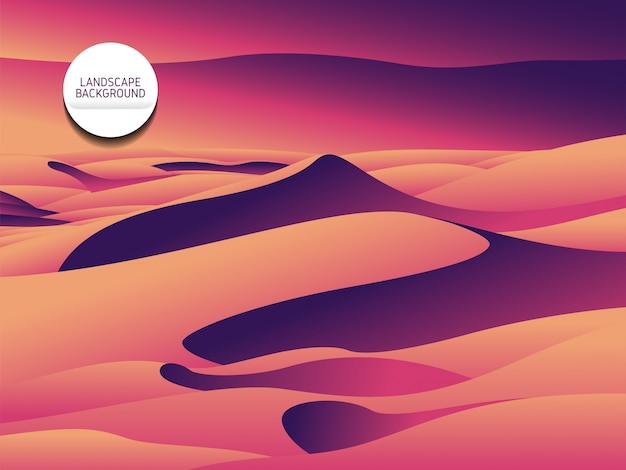 Fondo de paisaje violeta
