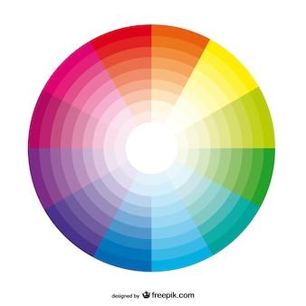 Fondo con paleta de colores