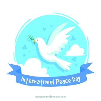 Fondo de paloma blanca de la paz