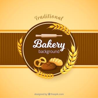 Fondo de panadería en estilo plano