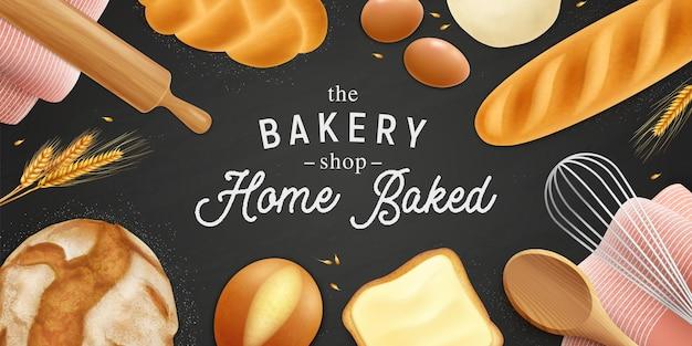 Fondo de panadería realista