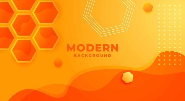 Fondo de panal hexagonal amarillo naranja