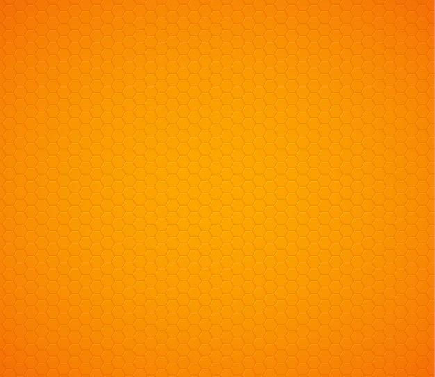 Fondo de panal de hexágono amarillo naranja