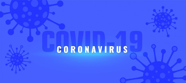 Fondo de pandemia de brote de coronavirus covid-19 con virus