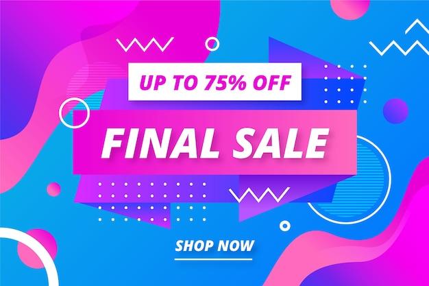 Fondo de pantalla abstracto colorido de ventas finales de memphis