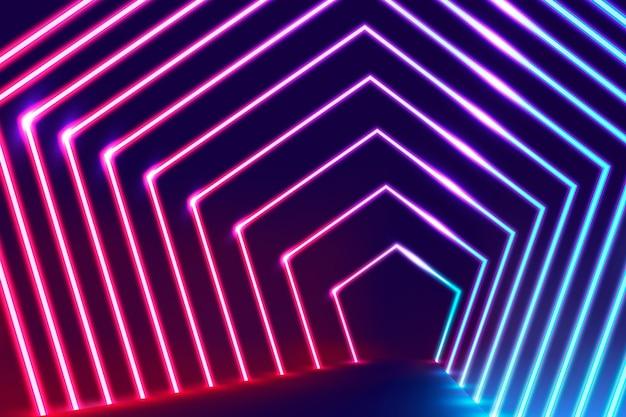 Fondo de pantalla abstracto luces de neón