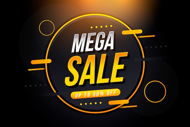 Fondo de pantalla abstracto mega ventas oscuras