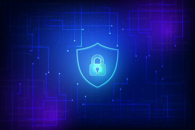 Fondo de pantalla abstracto de tecnología segura