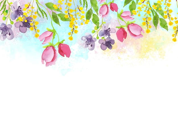 Fondo de pantalla de acuarela hermosa primavera
