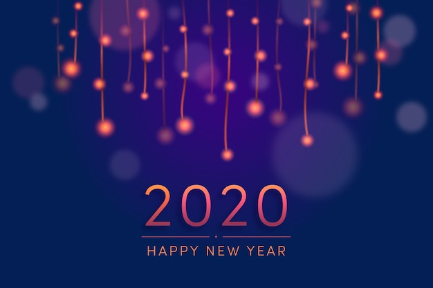Fondo de pantalla borroso año nuevo 2020