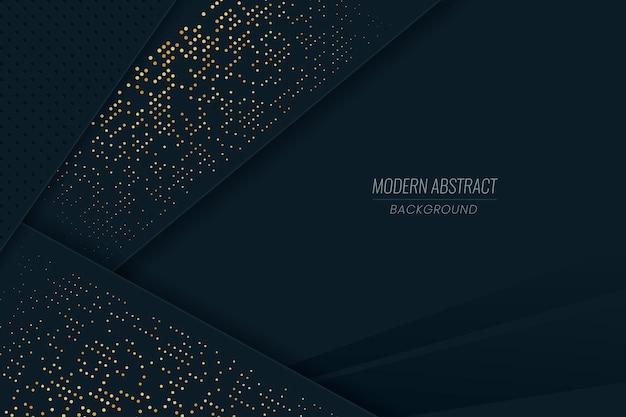 Fondo de pantalla de capas de papel oscuro con detalles dorados