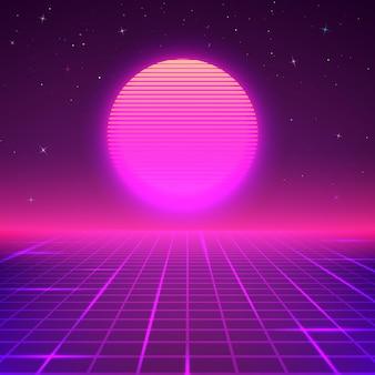 Fondo de pantalla de cartel de ciencia ficción o música retro