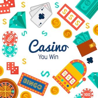 Fondo de pantalla de casino con elementos de poker.