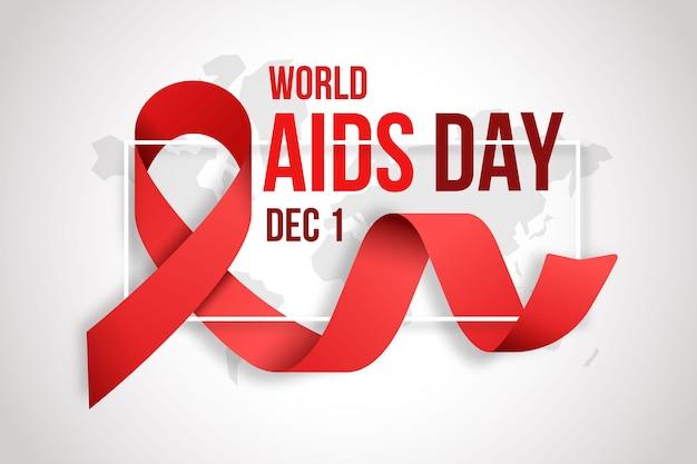Fondo de pantalla de cinta realista del día del sida