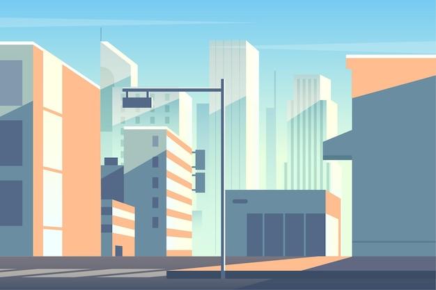Fondo de pantalla con ciudad urbana