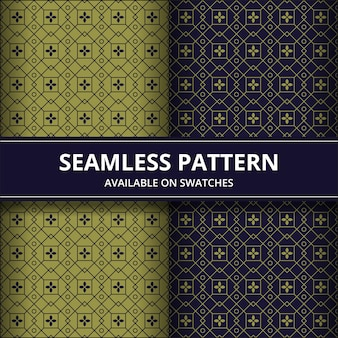 Fondo de pantalla clásico de batik tradicional de patrones sin fisuras. elegante forma geométrica. telón de fondo étnico de lujo en color dorado y azul marino.