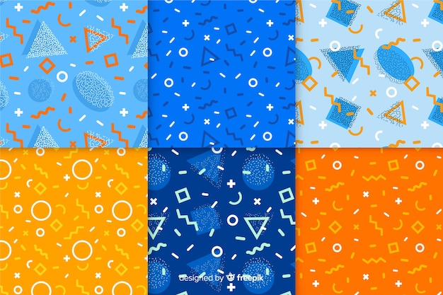Fondo de pantalla de colección de patrones de memphis
