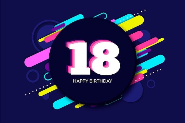 Fondo de pantalla colorido feliz cumpleaños