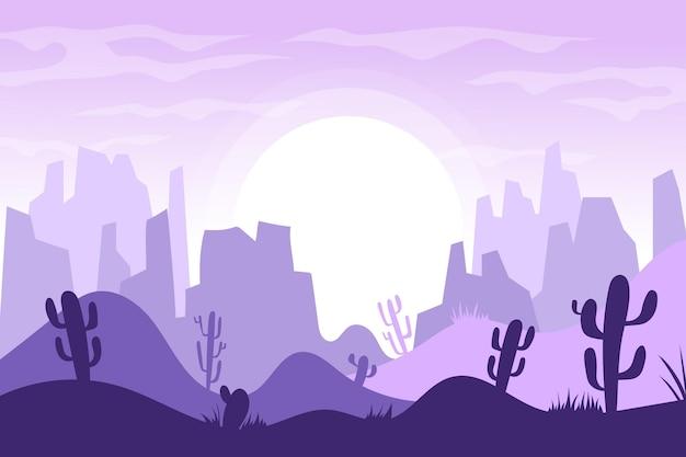 Fondo de pantalla con concepto de paisaje desértico