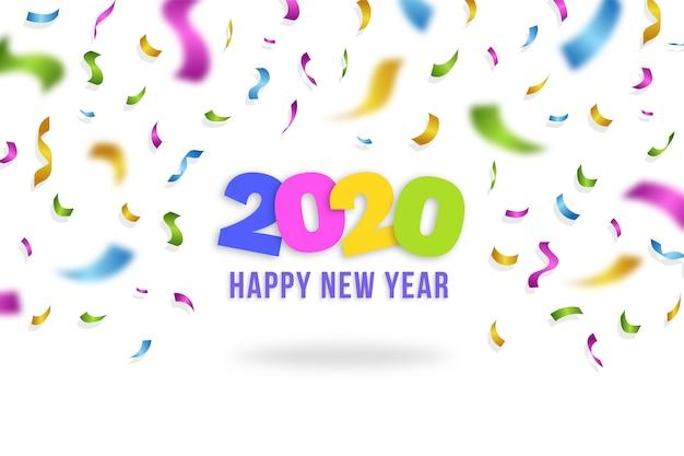 Fondo de pantalla de confeti año nuevo 2020