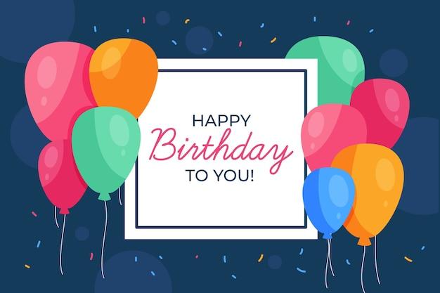 Fondo de pantalla de cumpleaños dibujado a mano