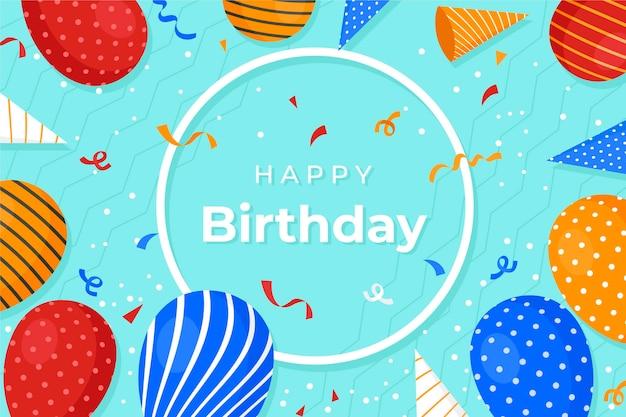 Fondo de pantalla de cumpleaños con globos
