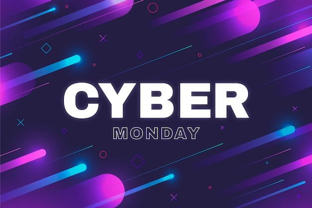 Fondo de pantalla de cyber monday de diseño plano