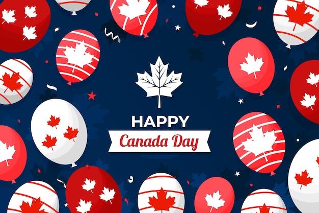 Fondo de pantalla para el día de canadá con globos