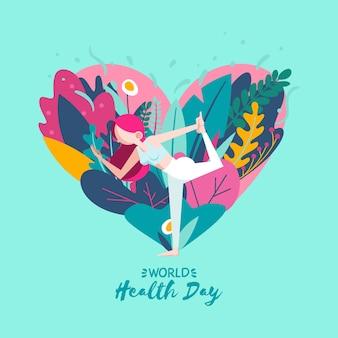 Fondo de pantalla del día mundial de la salud dibujado a mano
