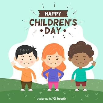 Fondo de pantalla del día del niño dibujado a mano