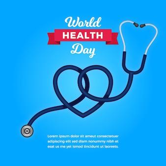 Fondo de pantalla del día de la salud con estetoscopio