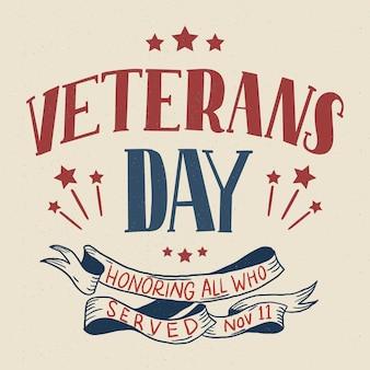 Fondo de pantalla del día de los veteranos de letras vintage