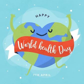 Fondo de pantalla dibujado a mano día mundial de la salud