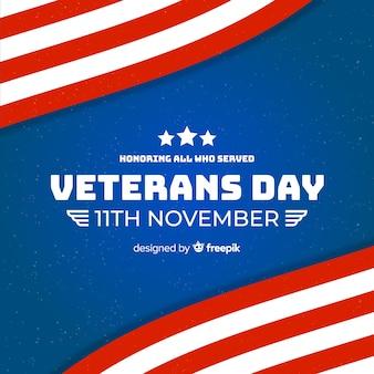 Fondo de pantalla de diseño plano del día de los veteranos
