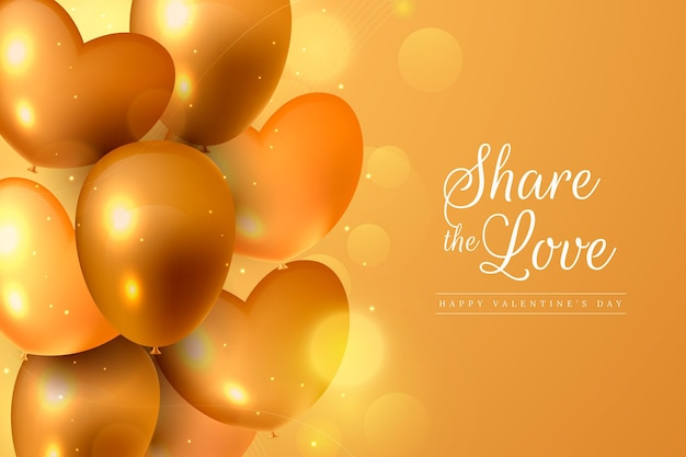 Fondo de pantalla dorado del día de san valentín