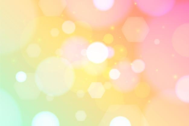 Fondo de pantalla de efecto bokeh colorido
