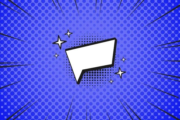 Fondo de pantalla de estilo cómic de diseño plano con bocadillo