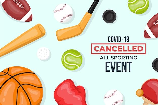 Fondo de pantalla de eventos deportivos cancelados