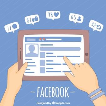 Fondo de pantalla con facebook