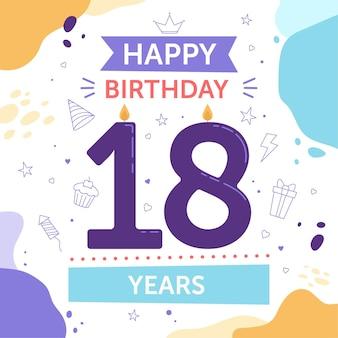 Fondo de pantalla de feliz cumpleaños número 18