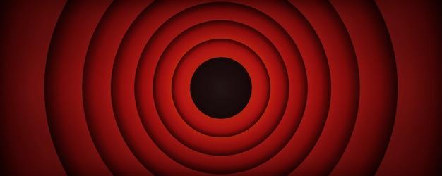Fondo de pantalla de final de película antigua, la ilustración de vector final.