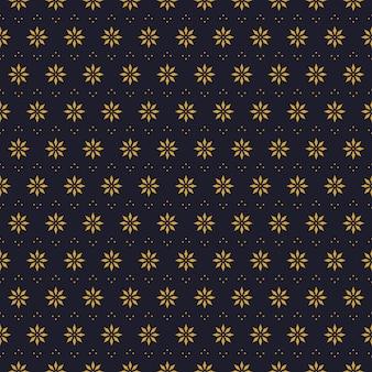 Fondo de pantalla de flores geométricas de patrones sin fisuras en estilo batik