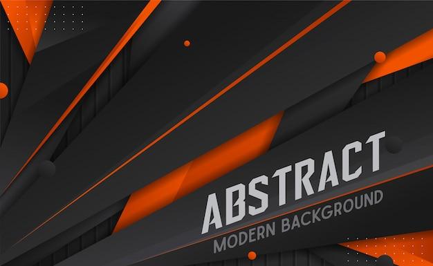 Fondo de pantalla de fondo moderno abstracto en blanco y naranja