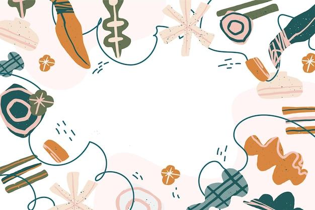 Fondo de pantalla de formas abstractas dibujadas a mano