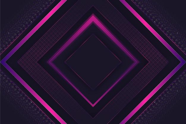 Fondo de pantalla de formas geométricas elegantes realistas