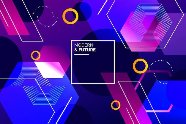 Fondo de pantalla de formas geométricas gradiente